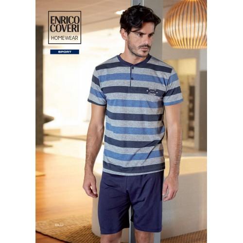 7dd642c68d4a Enrico Coveri Pigiama uomo maniche corte e pantaloncino ART.EP9033 ...